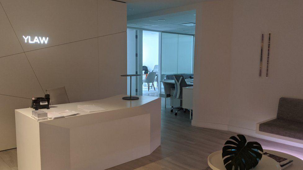 Leena's empty office.