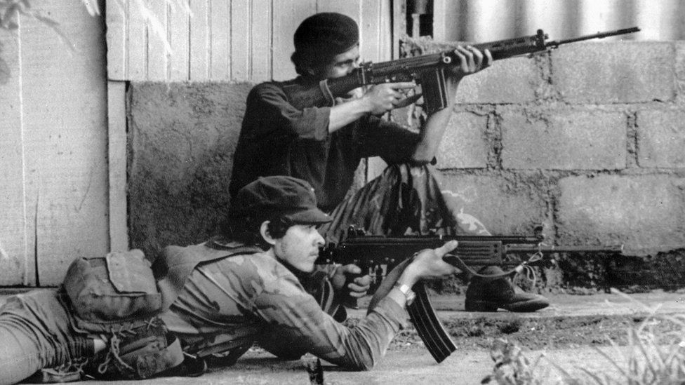 Sandanista rebels in Nicaragua
