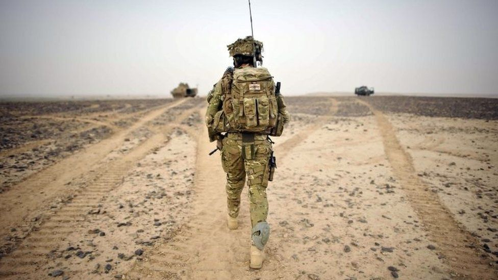 British Army Officer in Helmand province