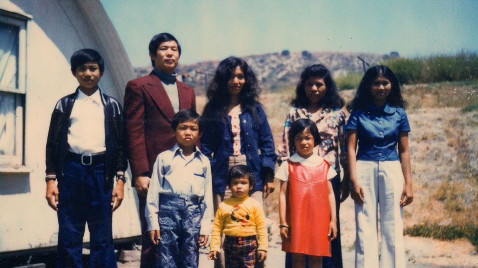 Ted's family in the refugee camp