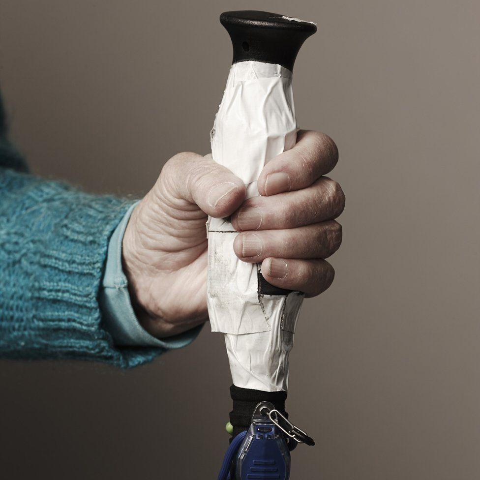 Barbara Knickerbocker-Beskind has adapted her walking sticks to her needs