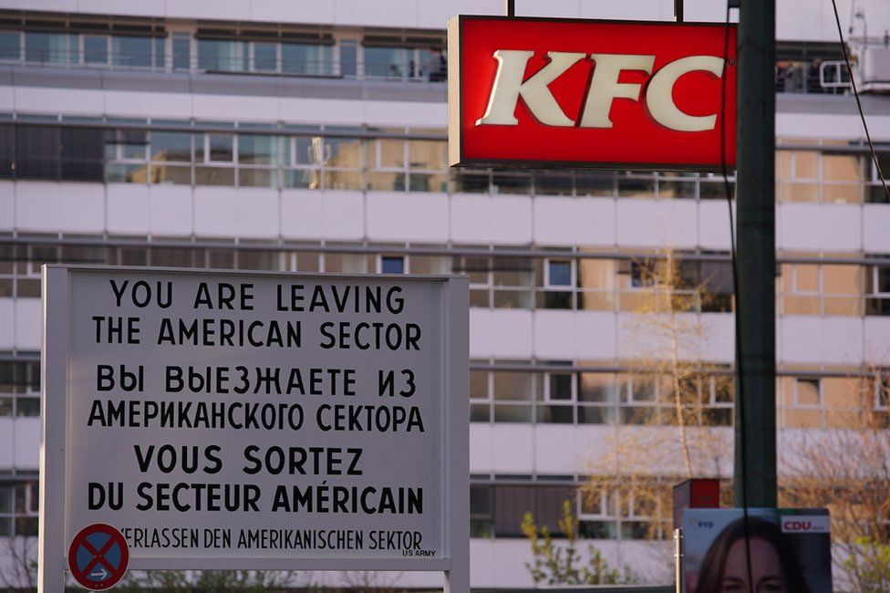 Checkpoing Charlie housing in Berlin