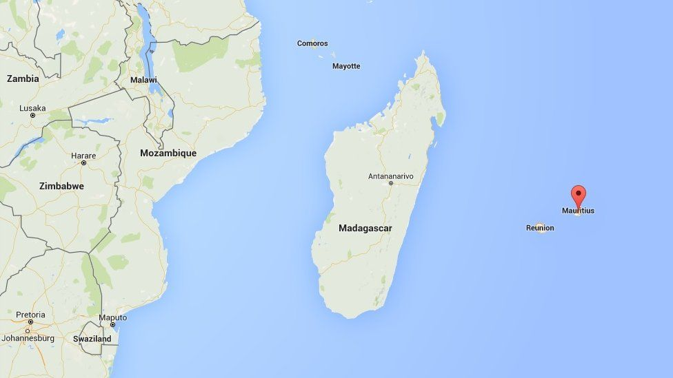 Mauritius on the map