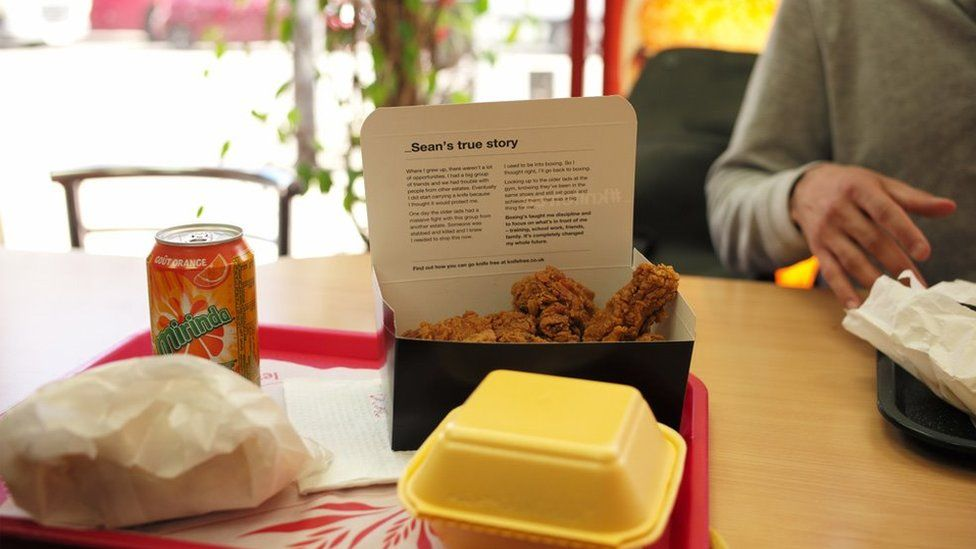 A Knife Free chicken box in Morley's