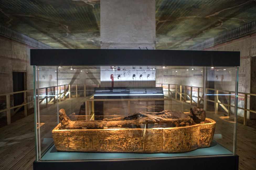 The reconstructed tomb of Thutmose III, Bolton museum
