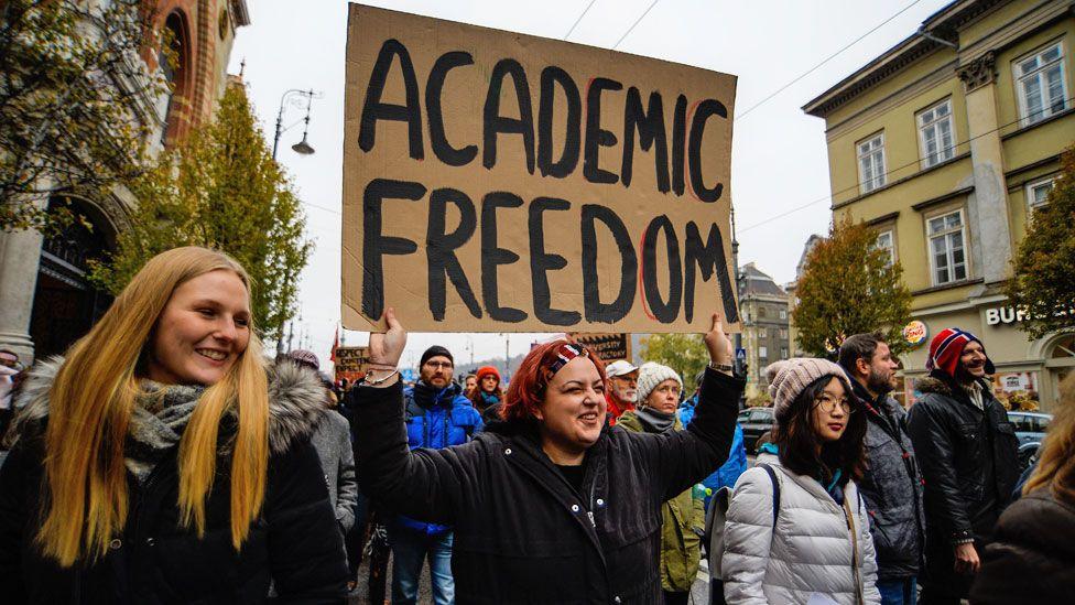 Academic freedom protest