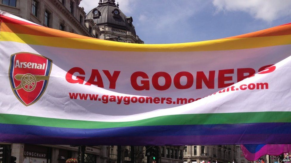 A Gay Gooners banner