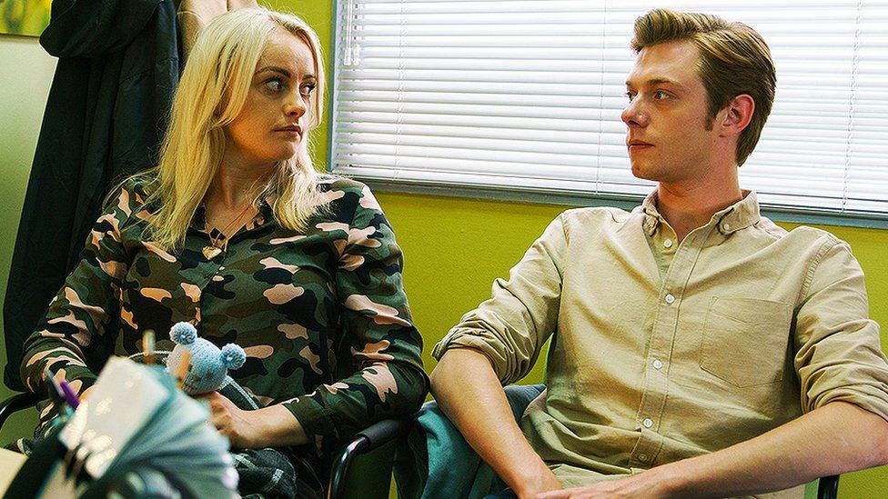 Katie McGlynn and Rob Mallard in Coronation Street