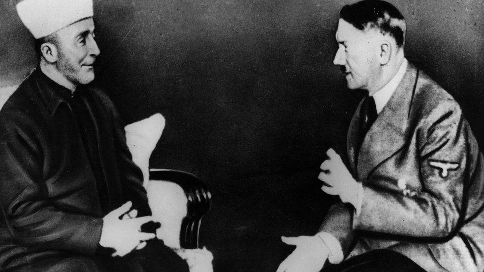 Haj Amin al-Husseini meets Adolf Hitler in Berlin in November 1941