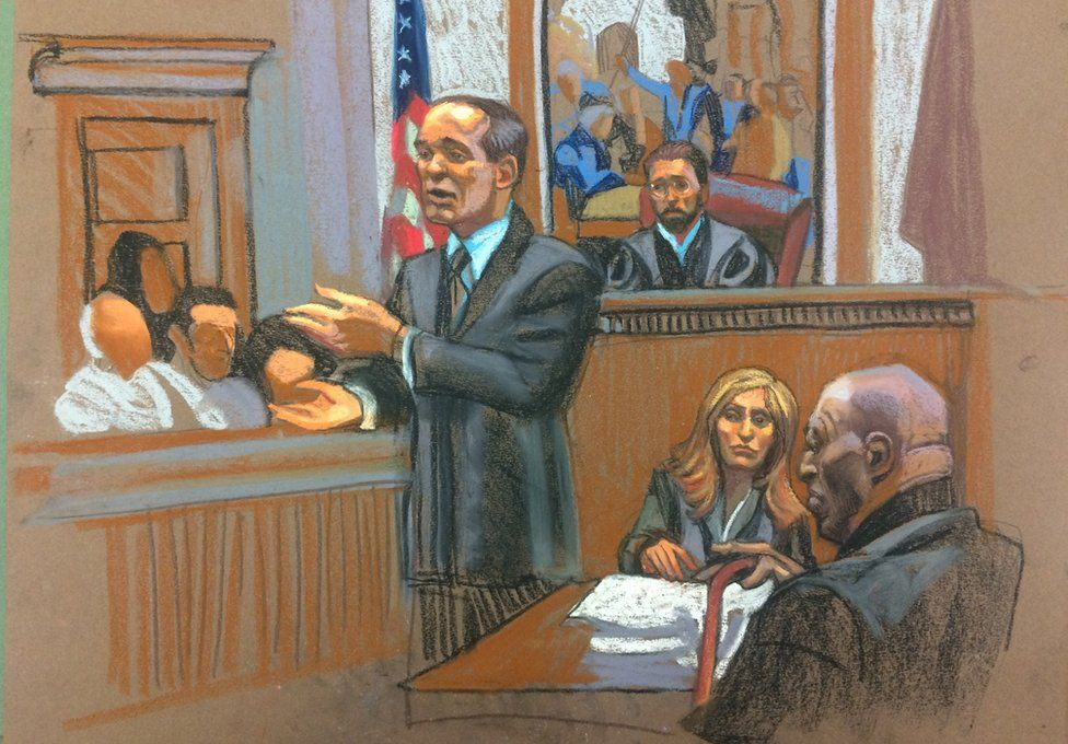 court sketch of cosby