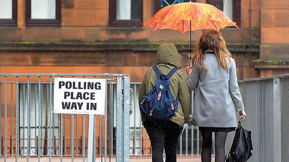 Polling station Glasgow 2017