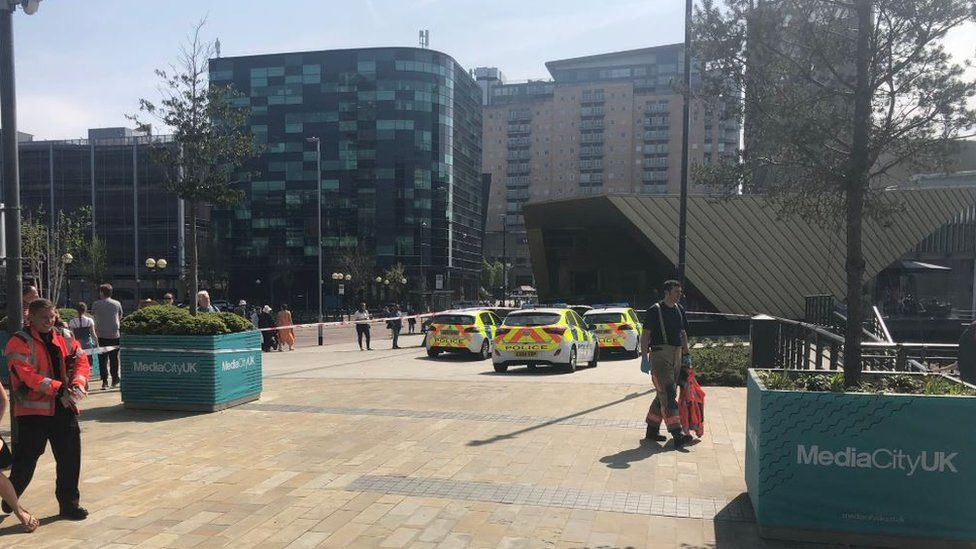 Police cars at Salford Quays