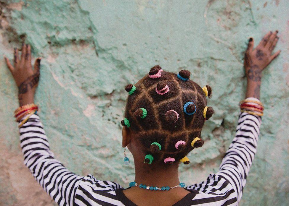 Back of girl's head