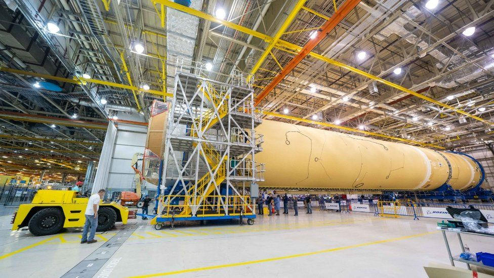 SLS: Nasa's giant 'Moon rocket' takes shape