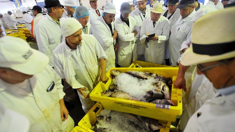 Fish mongers in Grimsby
