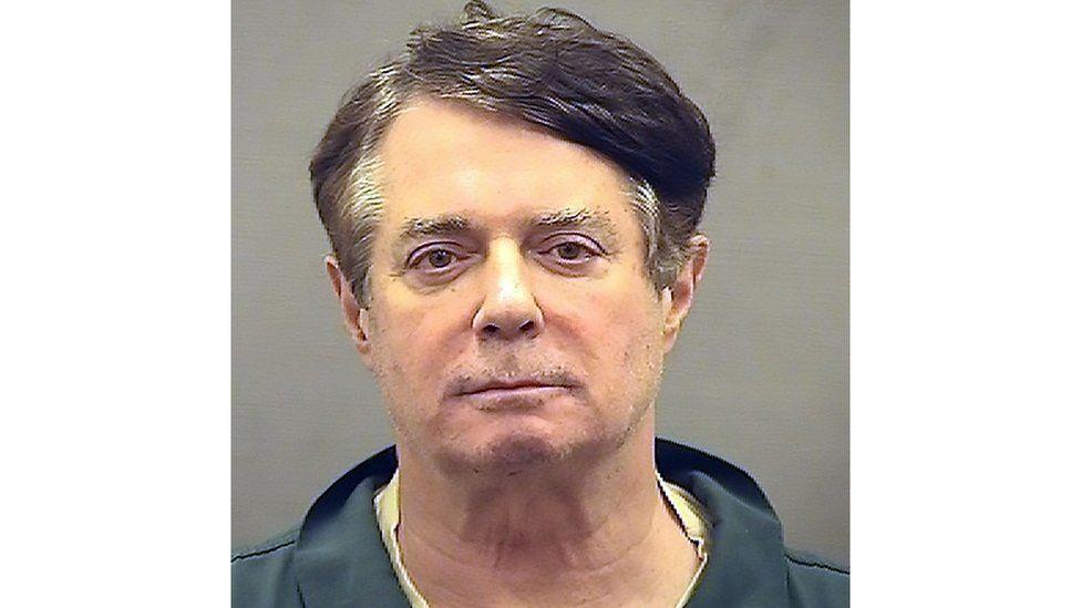 Jail booking photograph of Paul Manafort,