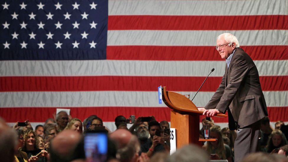 Bernie Sanders speaks at a Clinton campaign event in Madison, Wisconsin - 5 October 2016