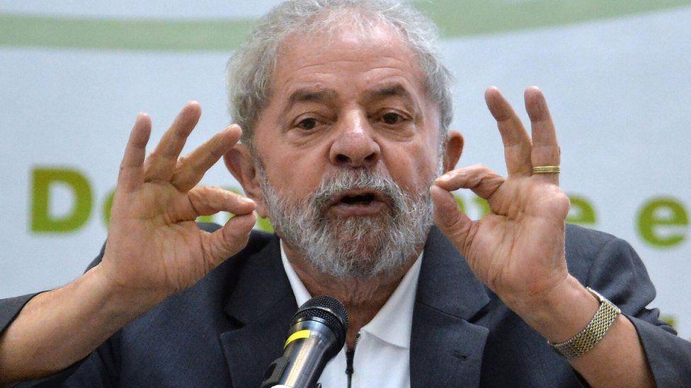 Brazilian former president Luiz Inacio Lula da Silva on April 25, 2016