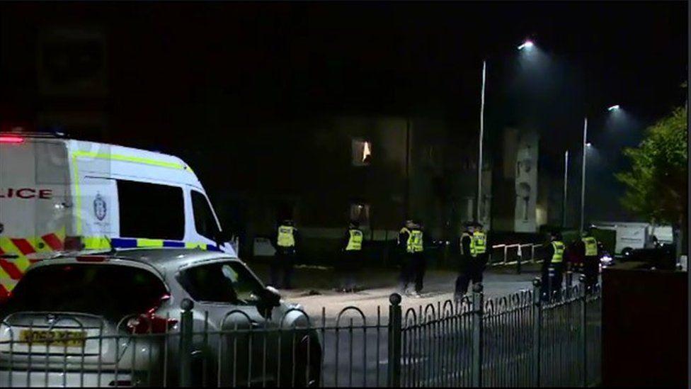 Police in Pilton