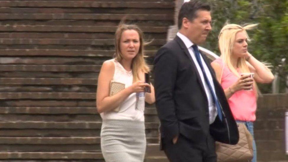 Katy Bethel (left) denies the charge