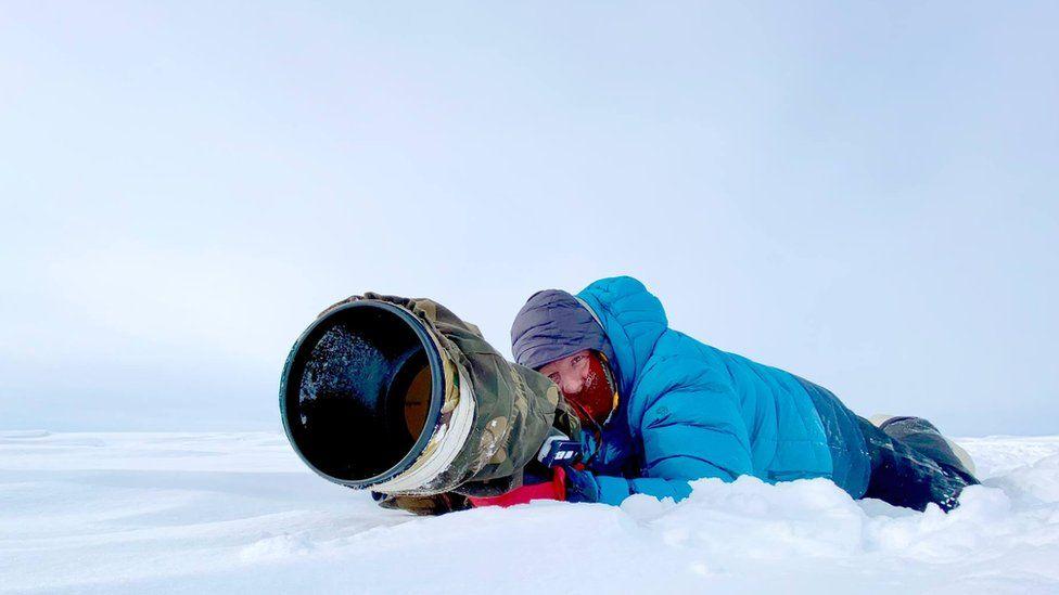 Brian Matthews in the tundra