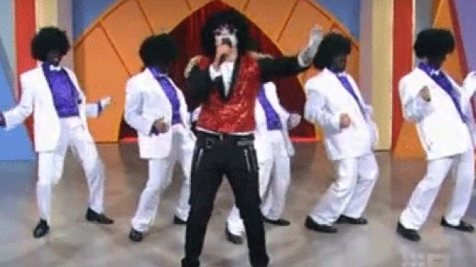 Jackson 5 parody group on Australian television