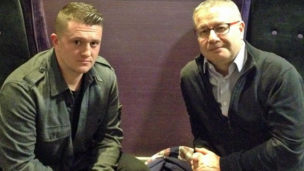 Tommy Robinson and Adrian Goldberg