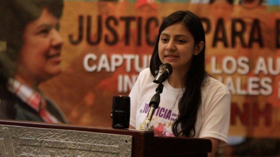 Laura Zuniga, daughter of Berta Caceres in Tegucigalpa, Honduras, October 31, 2017.