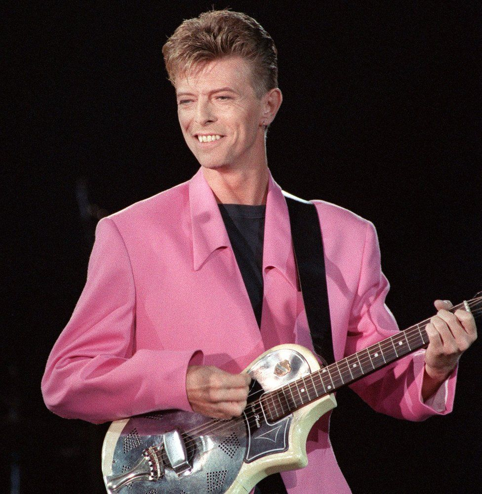 Bowie performing at the Place de la Nation, Paris