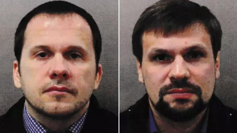 Alexander Petrov (left) and Ruslan Boshirov