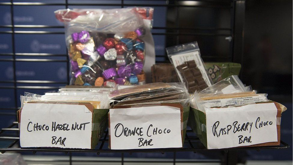 Police seized candy and snacks that contain marijuana