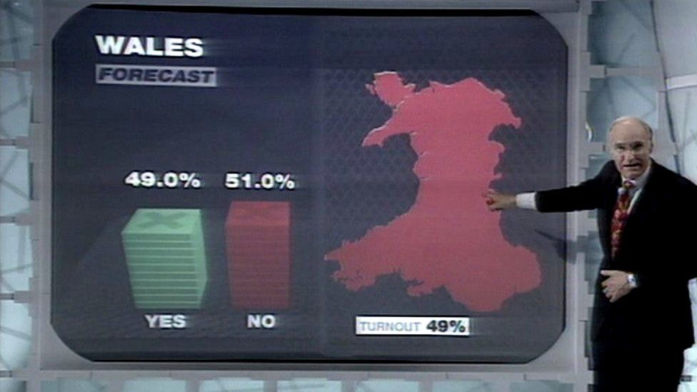 Peter Snow and 1997 Wales referendum result prediction