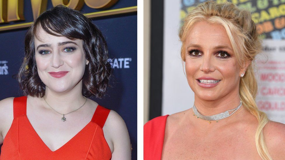 Mara Wilson and Britney Spears in 2019