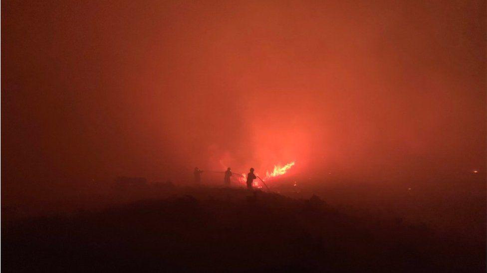 Heath fire