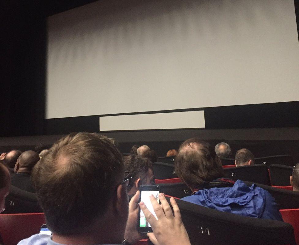 Audience in the Okja screening