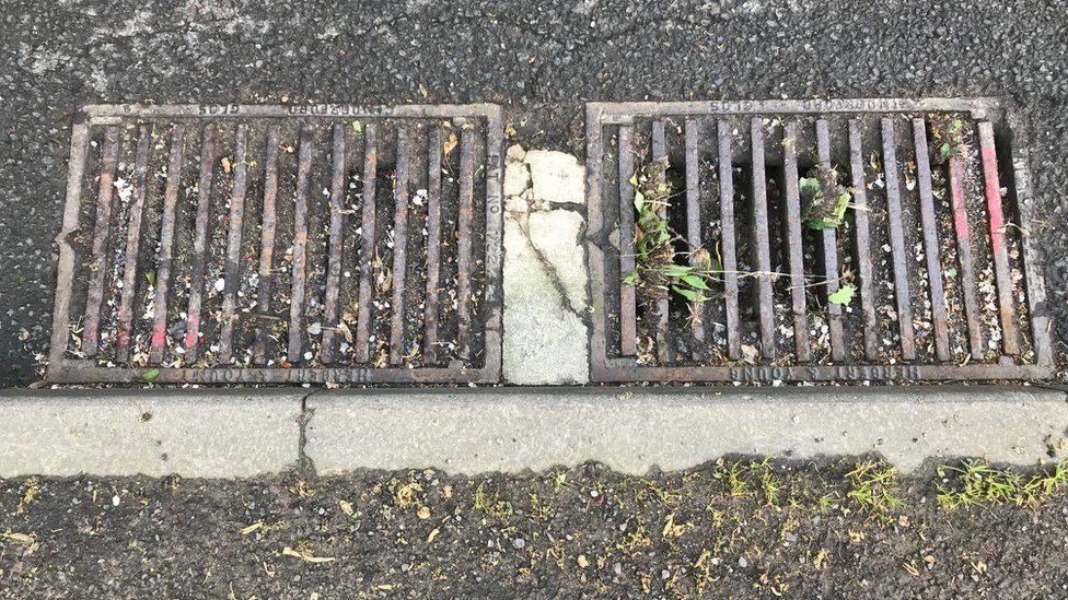 Drains on Cowcombe Hill, near Stroud