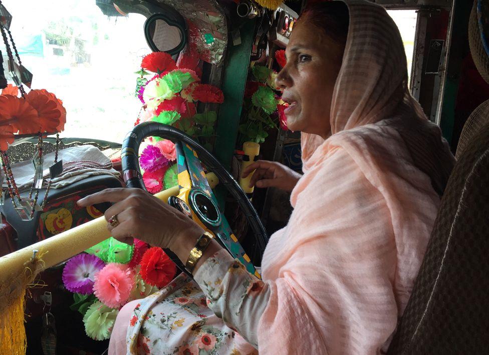 Shamim driving