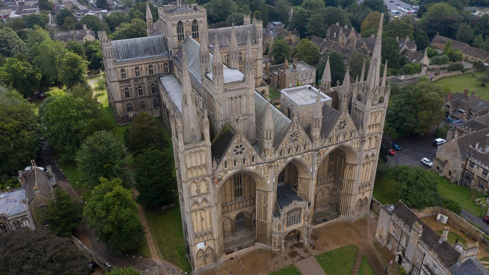 Peterborough Cathedral from above