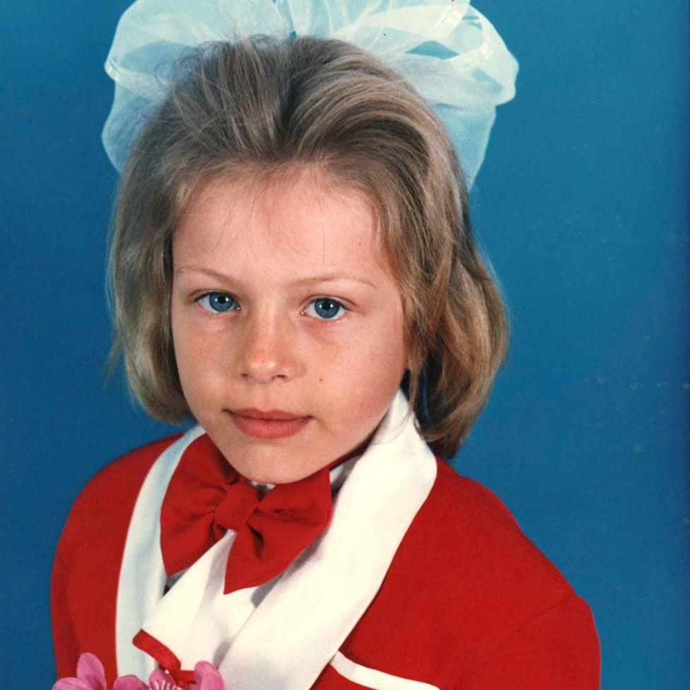 Yuliya Stepanova in school uniform
