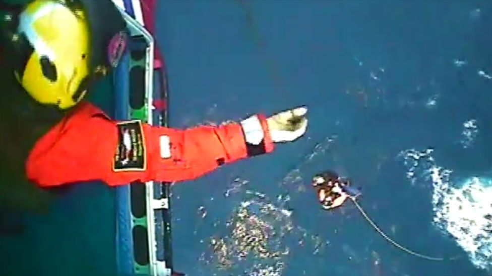 Rescue of unwell crewman