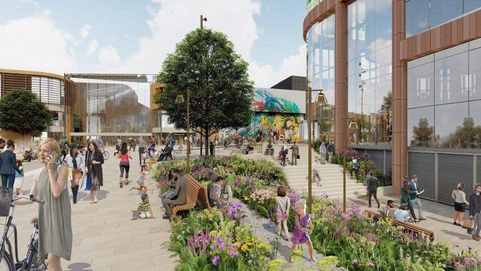 Nottingham redevelopment artist's impression