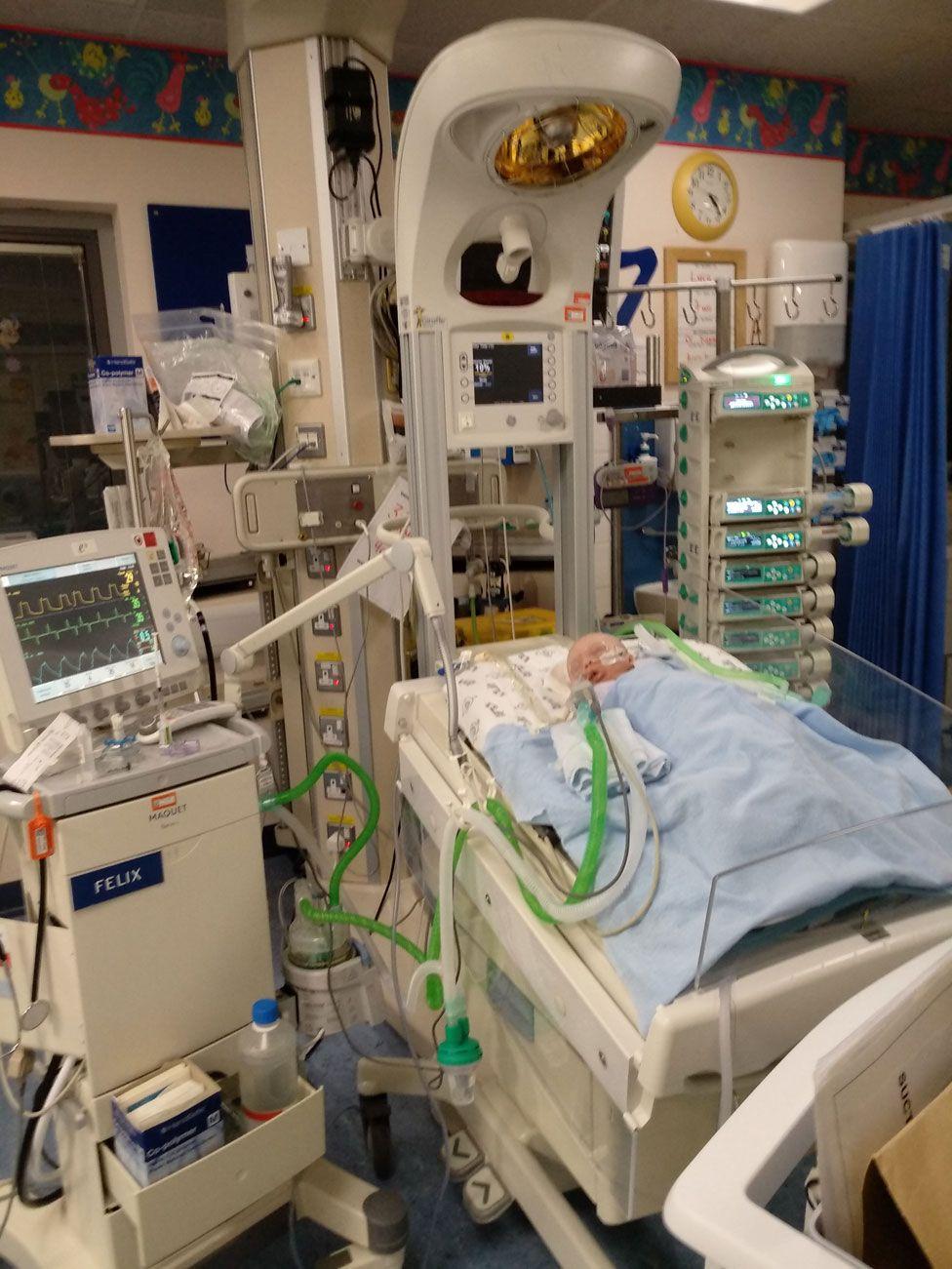 Luca in intensive care