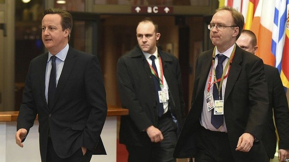 Sir Ivan Rogers with David Cameron in February 2016