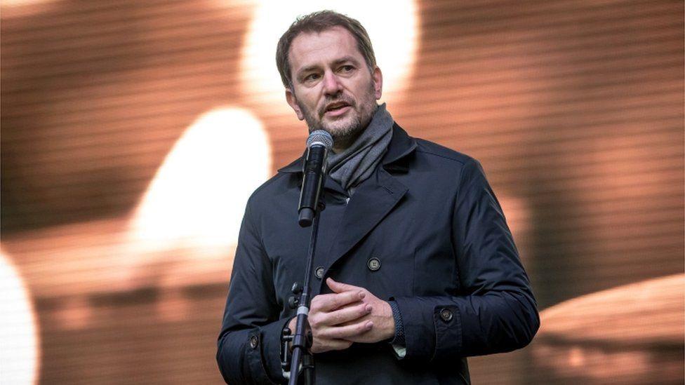 Igor Matovic at a rally