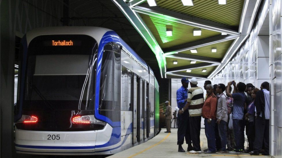 Ethiopia inaugurates sub-Saharan Africa's first light rail system in the capital Addis Ababa