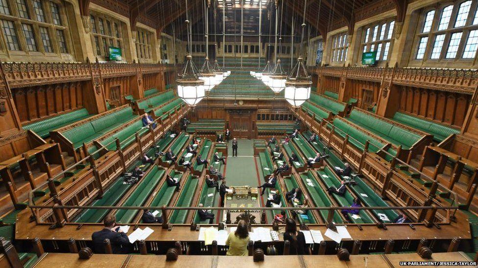 House of Commons during debate on emergency legislation