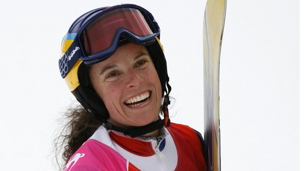 Julie Pomagalski from France in the Turin 2006 Winter Olympics