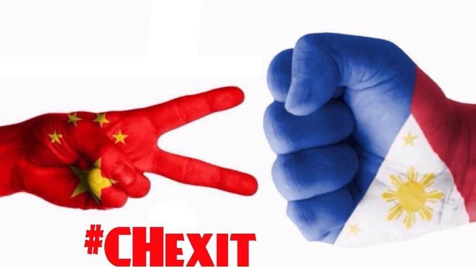 """The term """"Chexit"""", a combination of the words """"China"""" and """"Exit"""", was quickly picked up on social media, reaching one of the top five Twitter trends in the Philippines"""