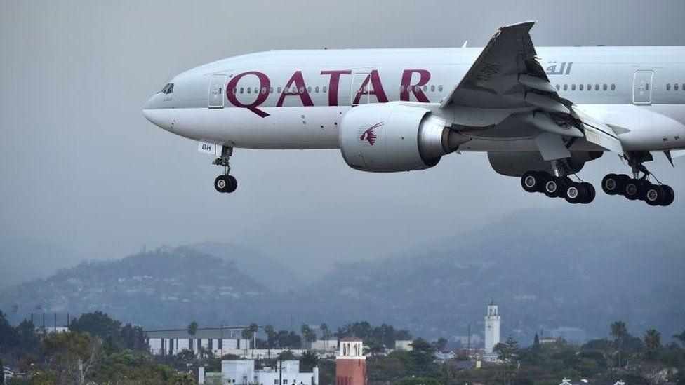 Qatar Airways flight on 21 March 2017