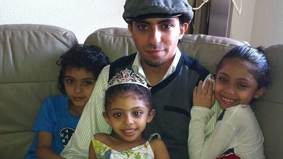 Raif Badawi with children (family handout)